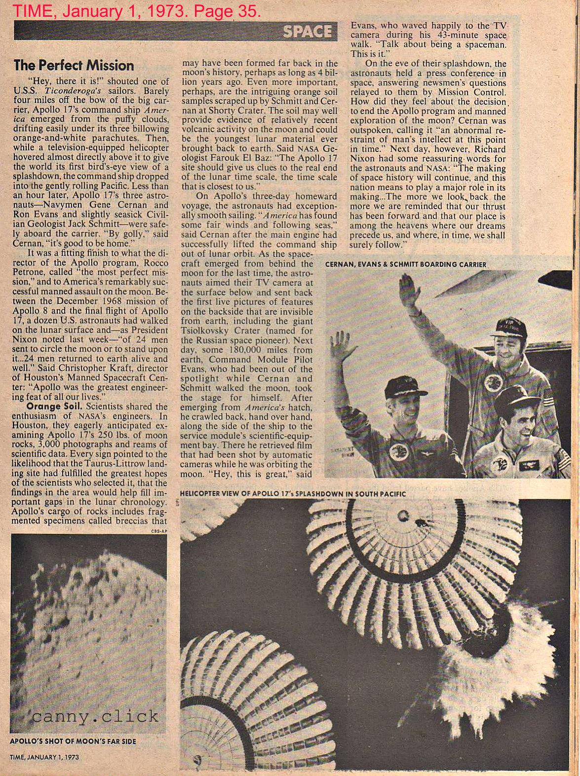 Apollo 17 mission text