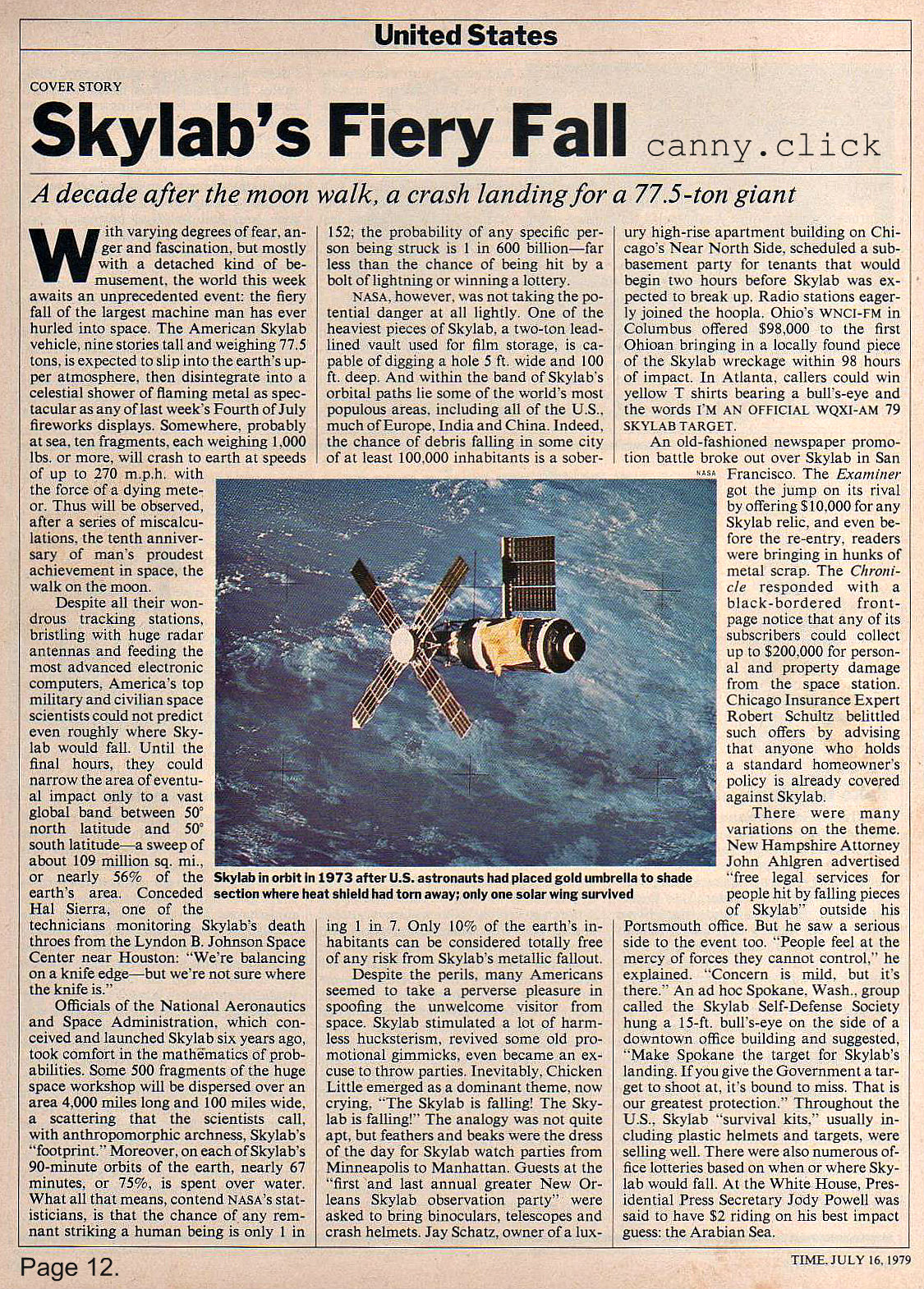 Skylab article, Part 1