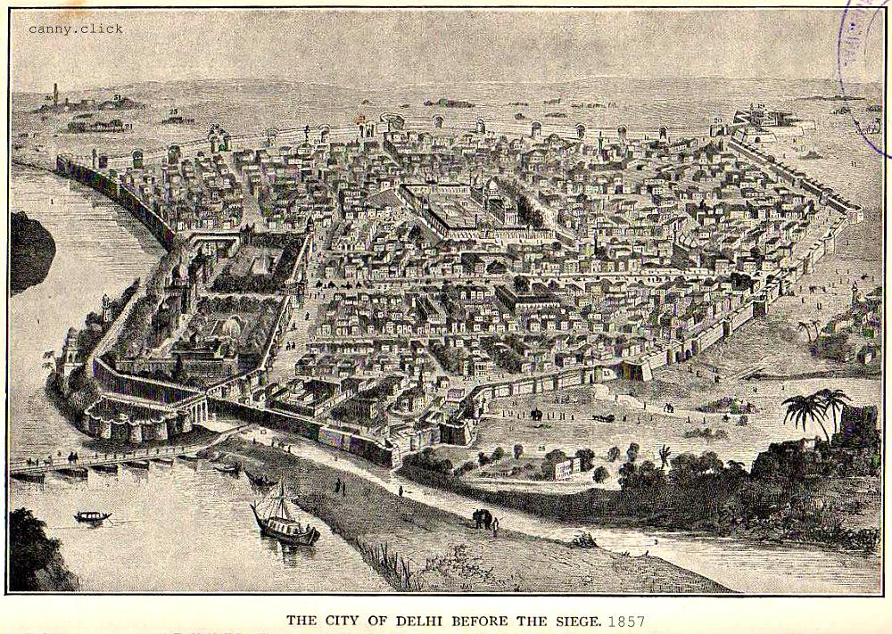 Delhi before the siege of 1857