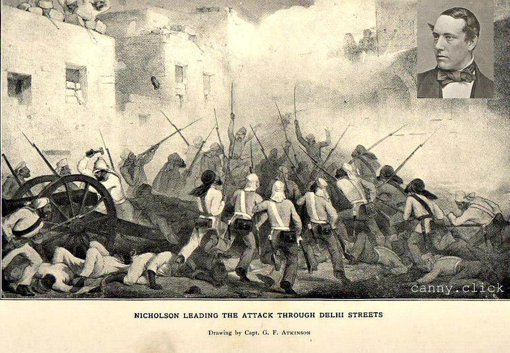 Fighting in Delhi streets