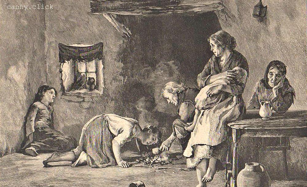 Interior of peasant hut