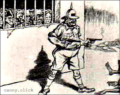 John Bull guards jailed Indian nationalists