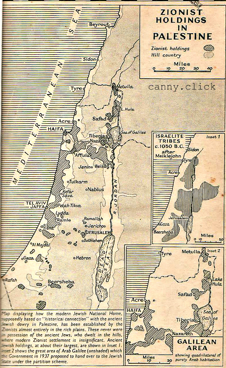 Zionist land holdings in Palestine, 1939