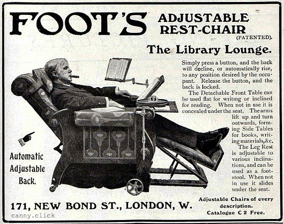 Foot's Chair advertisement