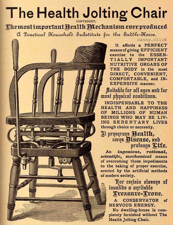 Health Jolting Chair advertisement