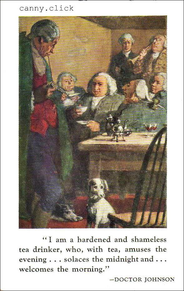 18th-century tea drinkers