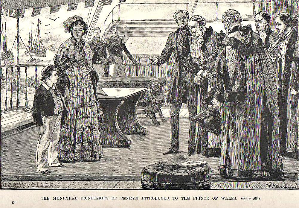 Prince of Wales meets dignitaries of Penryn