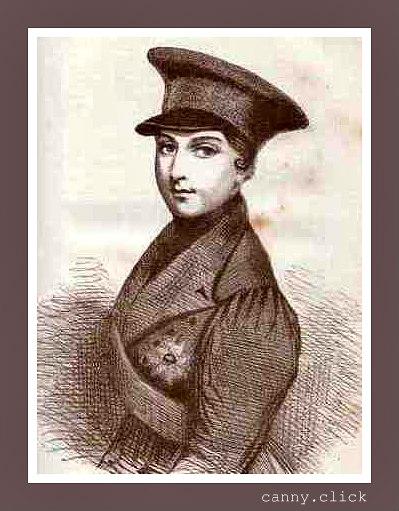 Queen Victoria in martial hat
