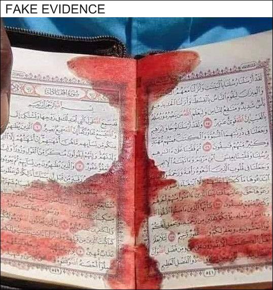 Blood on Quran
