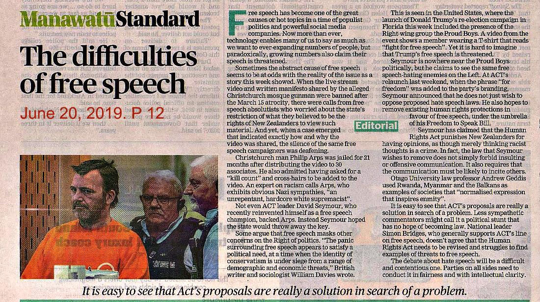 Manawatu Standard editorial