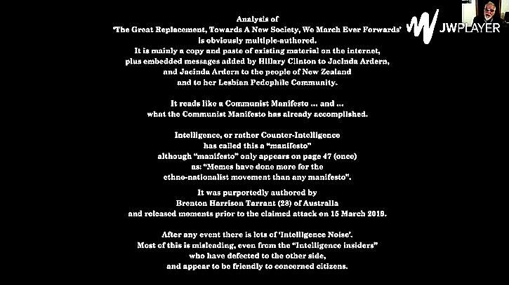 Analysis of manifesto